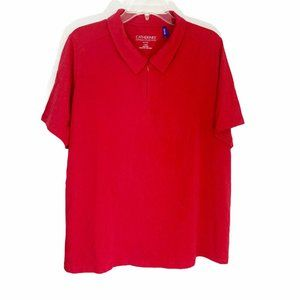 Catherines Suprema Red Zip Polo Short Sleeve Shirt